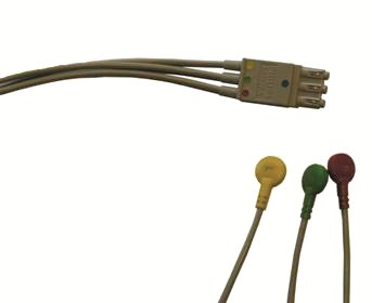 3-lead ECG Set and Plug with Snap (IEC)M3528A