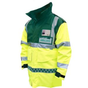 HI-Vis Ambulance Jacket - Green & Yellow