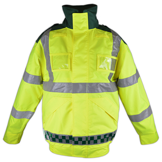 HI-Vis Bomber Jacket - Green & Yellow