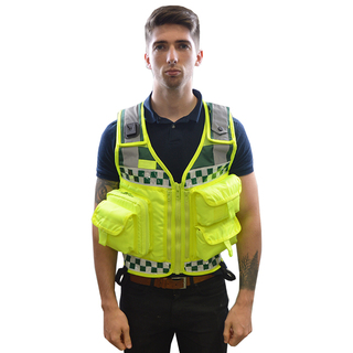 Bastion EMS 5 Pocket Tactical Vest In Yellow/GreenPC/321