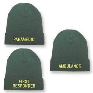 Green Beanie Woolly Hat - AmbulancePC/681A