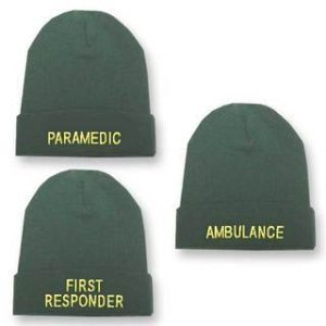 Green Beanie Woolly Hat - First ResponderPC/681FR