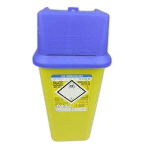 Solid Waste Pharmaceutical Bin - 7 Litre with Blue LidPH/099