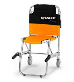 Spencer 420: Transport chair with two wheels silverST10420 A