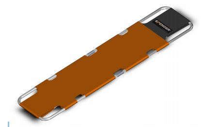 Lengthwise compact foldable stretcher Orange Spencer