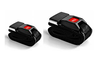 STX 702: Black Reflective 2 piece beltST70002 A