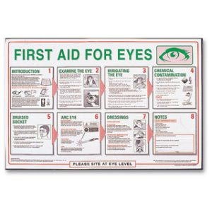 First Aid Poster - First Aid For EyesTR/932