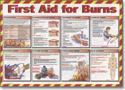 First Aid Poster - First Aid For BurnsTR/933