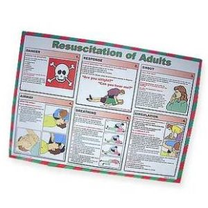 First Aid Poster - Resuscitation Of AdultsTR/938