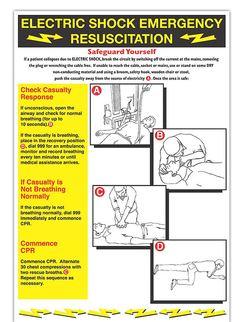 ELECTRIC SHOCK EMERGENCY RESUSCITATION POSTERWC140