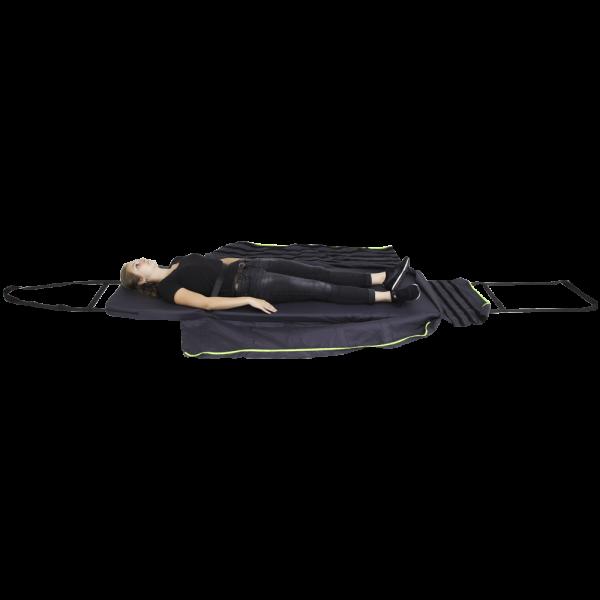 Person Lying Down On The S-CAPEPLUS Evacuation Mattress Basic Model
