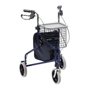 Blue Tri-Walker with Bag, Basket and Tray